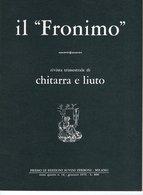 Il Fronimo Rivista Di Chitarra E Liuto N° 14 - 1976 - Muziek