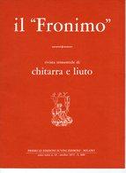 Il Fronimo Rivista Di Chitarra E Liuto N° 13 - 1975 - Muziek
