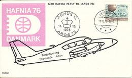 Denmark Cover First Flight Skovlunde - Aarhus AROS 75 11-10-1975 SEE THIS CACHET (Hafnia 76) - Lettres & Documents