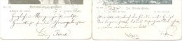 CARTAS DE AMOR - TARJETAS POSTALES DE AMOR LUDWIG POLLAK ARQUEOLOGIST ARQUEOLO A LA BIEN NACIDA WOHLGEBOREN IDA GOTZL - Autographes