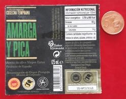 ETIQUETA ACEITE DE OLIVA AMARGA Y PICA 125 ML. USADO - USED. - Etiquetas