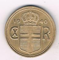 2 KRONUR 1940 IJSLAND /451/ - Islande