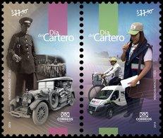 2019 MÉXICO Día Del Cartero Y El Empleado Postal SET MNH, Postman's Day And Postal Employee Bicycle Car Truck Express - Mexico