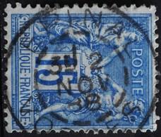 -Sage N°90 Type Ll.(CAD ) O.EPINAL 2 NOV 1888. - 1876-1898 Sage (Type II)