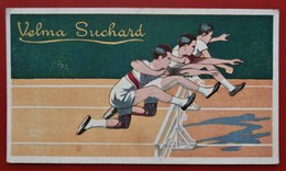 Chromo Velma SUCHARD Grand Prix 1900 SPORTS Serie 500 N° 12 Course A Pieds Saut De Haies - Suchard
