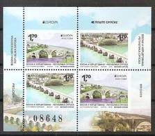 BOSNIA AND HERZEGOVINA 2018, Serbia  Bosnia,Bridges,Europa Cept,booklet,,MNH - Bosnië En Herzegovina