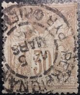 France N°80a Sage 30c Brun-jaune. Oblitéré CàD. Perpignan - 1876-1898 Sage (Type II)