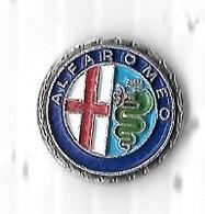 Pin's  Rond  Sigle  Automobile  ALFA  ROMEO - Alfa Romeo