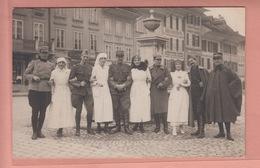 OLD POSTCARD - SWITZERLAND - SCHWEIZ - SUISSE -      AARBERG 1918 - MILITARY - BE Berne