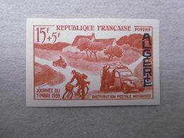 ALGERIE P350 * *    JOURNEE DU TIMBRE 1958 NON DENTELE LUXE - Algerien (1924-1962)