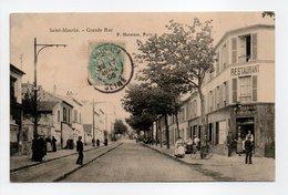 - CPA SAINT-MAURICE (94) - Grande Rue 1905 (belle Animation) - Edition P. Marmuse - - Saint Maurice