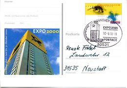 "BRD Amtl. GZS-Sonderpostkarte PSo 69 ""EXPO 2000 Hannover"" WSt ""EXPO 2000 Hannover II"", SSt. 10.5.2000 HANNOVER - BRD"