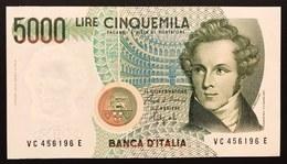 5000 LIRE VINCENZO BELLINI SERIE C 1992 Q.fds/fds LOTTO 2560 - [ 2] 1946-… : Républic