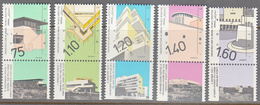 ISRAEL    SCOTT NO 1044-48    MNH    YEAR  1990   WITH TABS - Israel
