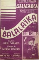 (37) Partition - Balalaïka - Henri Wernert - George Posford - Reda Caire - Partituren