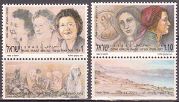 ISRAEL    SCOTT NO 1096-97    MNH    YEAR  1991   WITH TABS - Israel