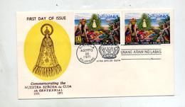 Lettre Fdc 1971 Notre Dame De Guia - Philippines
