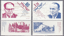 ISRAEL    SCOTT NO 1165-66    MNH    YEAR  1993   WITH TABS - Israel