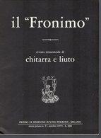 Il Fronimo Rivista Di Chitarra E Liuto N° 5 -  1973 - Muziek