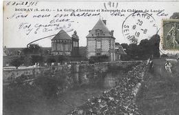 Bouray Sur Juine. La Grille D'honneur Et Les Remparts Du Chateau De Lardy. - Francia