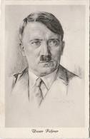 """III. Reich, Propaganda  Karte, """" Adolf Hitler """" - Weltkrieg 1939-45"""