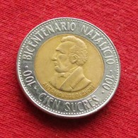 Ecuador 100 Sucre 1995 KM# 96 *V2 Lt 165 Equador Equateur - Equateur