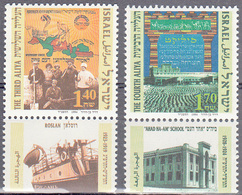 ISRAEL    SCOTT NO 1214-15    MNH    YEAR  1994   WITH TABS - Israel