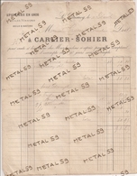 Epicerie En Gros, Huiles Vinaigres Sels Et Savons, Carlier Sohier à Le Quesnoy, 1894 - France