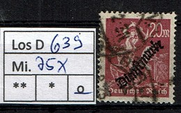 Los D639: DR Dienst Mi. 75, Gest. - Dienstpost