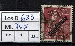 Los D639: DR Dienst Mi. 75, Gest. - Servizio
