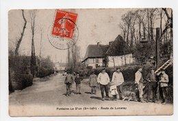 - CPA FONTAINE-LE D'UN (76) - Route De Luneray 1909 (belle Animation) - - Fontaine Le Dun