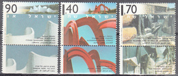 ISRAEL    SCOTT NO 1222-24    MNH    YEAR  1995   WITH TABS - Israel