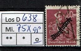 Los D638: DR Dienst Mi. 75, Gest., Gepr. - Dienstpost