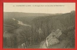 01422 - FINISTERE - CHATEAUNEUF DU FAOU - Les Montagnes Noires Vues Des Jardins De L'Hôtel Belle-vue - Châteauneuf-du-Faou