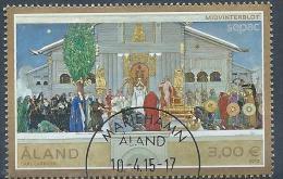 Aland 2015 N° 405 Oblitéré Sepac Peinture - Aland