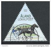 Aland 2015 N° 406 Oblitéré Cheval Course De Trot - Aland