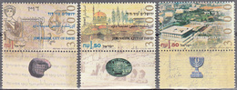 ISRAEL    SCOTT NO 1245-47    MNH    YEAR  1995   WITH TABS - Israel