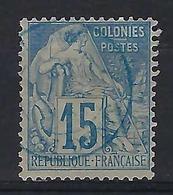 FRANCE  Colonies Générales 1881:    Le  Y&T 51, Oblitération Bleue CAD     B à TB - Alphée Dubois