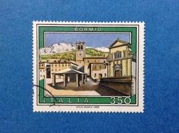 1985 ITALIA TURISTICA TURISMO BORMIO 350 LIRE FRANCOBOLLO USATO ITALY STAMP USED - 6. 1946-.. Repubblica