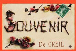 X60178 CREIL 60-Oise Souvenir De CREIL 1910s à Daniel CHATALA Rue Perset Courbevoie / TREFLE CCCC 2049 - Creil