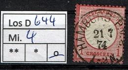 Los D644: DR Mi. 4, Gest. - Allemagne