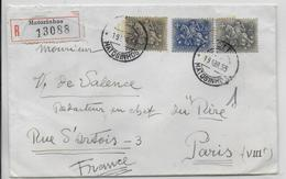 1955 - PORTUGAL - LETTRE RECOMMANDEE De MATOSINHOS => PARIS - CACHETS De CIRE AU DOS - 1910-... Republic