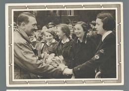 POSTKARTE   Avec Affranchi à  6 + 19 Deutches Reich  Effigie Adolf Hitler Et Enfants - Guerre 1939-45