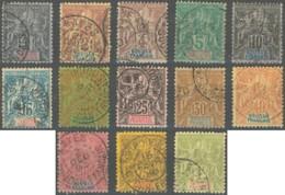 Soudan Français 1894-1900 - N° 03 à 15 (YT) N° 3 à 15 (AM) Oblitérés. - Soedan (1894-1902)