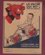 160120 - PROTEGE CAHIER Fromage LA VACHE QUI RIT - BENJAMIN RABIER André Marcy Crêmes De Gruyère - Auto Voiture à Pédale - Alimentare