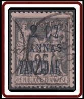 Zanzibar Bureau Français - N° 24 (YT) N° 41 (AM) Oblitéré. - Zanzibar (1894-1904)