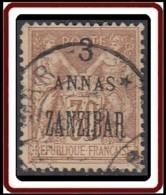 Zanzibar Bureau Français - N° 25 (YT) N° 42 (AM) Oblitéré. - Sansibar (1894-1904)