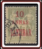 Zanzibar Bureau Français - N° 29 (YT) N° 45 (AM) Oblitéré. - Zanzibar (1894-1904)
