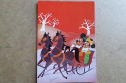 MICKEY Et MINNIE - Walt Disney - Voyage En Traîneau - ( Illustration ) - Disneyland