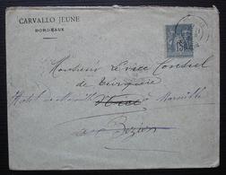 Bordeaux 1884 Carvallo Jeune Lettre Pour Le Vice Consul De Turquie - Marcophilie (Lettres)
